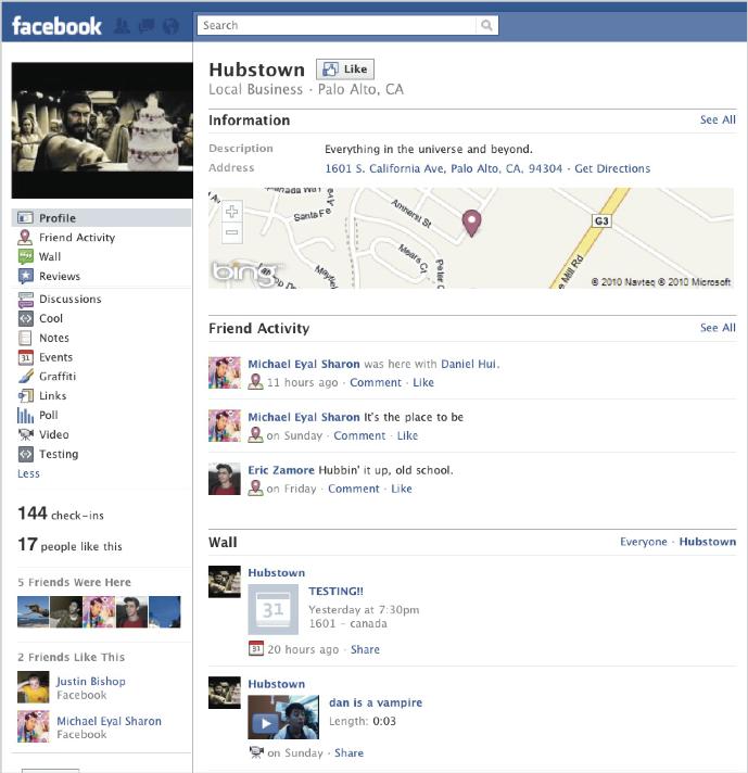 Facebook Places - Place