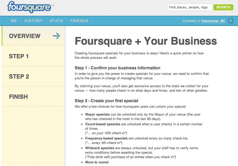 foursquare business dashboard