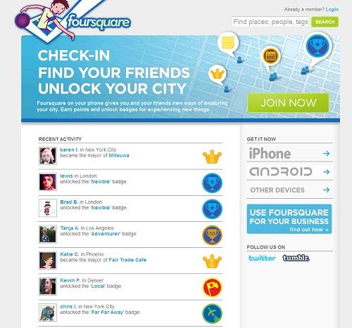 foursquare unlock your city