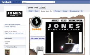 jones can soda facebook fan page marketing