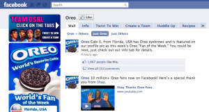 oreo facebook fan page marketing