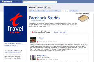travel channel facebook fan page marketing