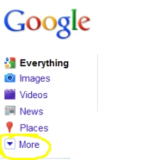 Google Realtime Search - More tab
