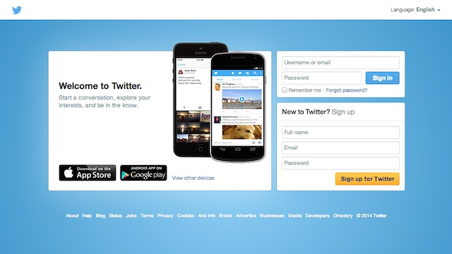 twitter for business sign up