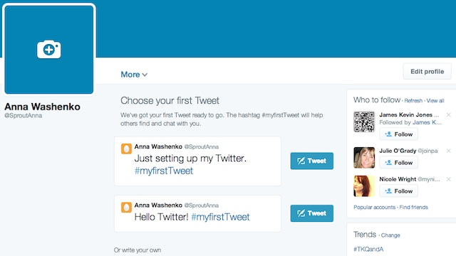 edit your twitter for business profile details