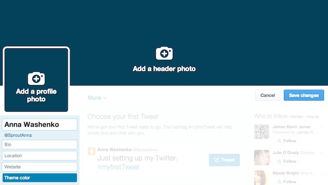 edit your twitter for business profile photos