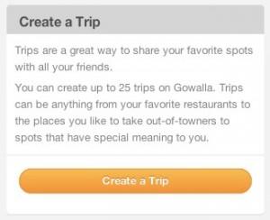Create a Gowalla Trip