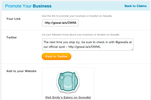 Promote your Business on Gowalla