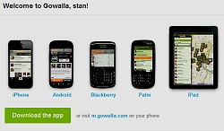 Download the Gowalla application