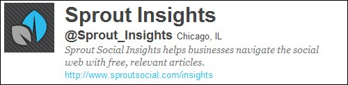 Sprout Insights on Twitter