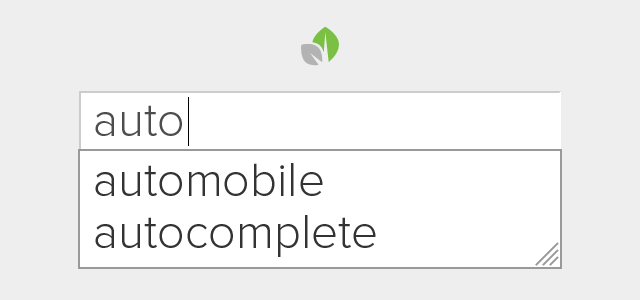 Sprout Mobile Autocomplete