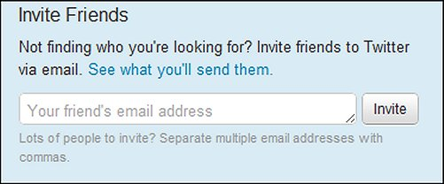 Invite Friends to Twitter via email