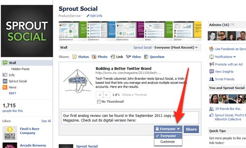 How to Send Facebook Page Updates to Specific Countries | Sprout ...