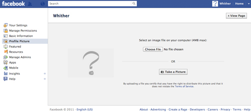 facebook how to change page picture