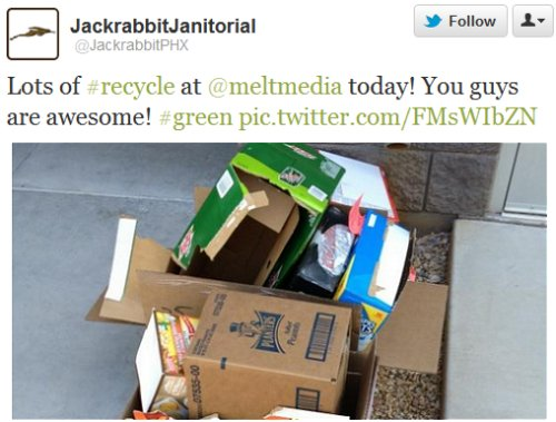 Jackrabbit gives credit to clients