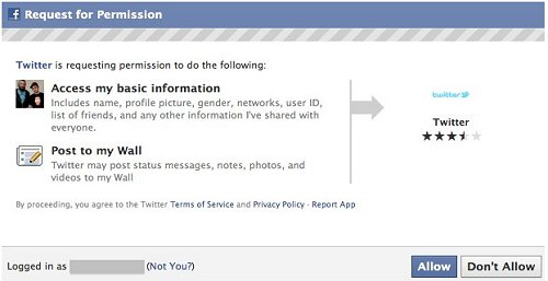 Allow Facebook Permissions