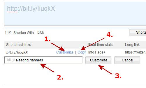 Customize a Shortened link with bit-ly