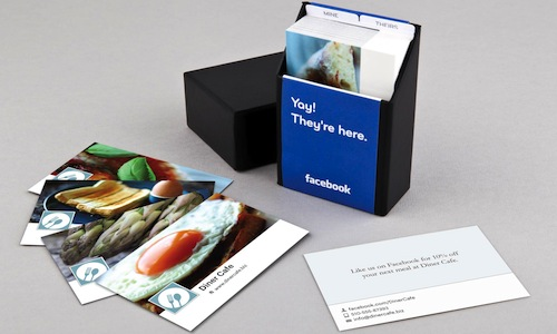 Create business cards using details from your facebook page you can make your cards reheart Image collections