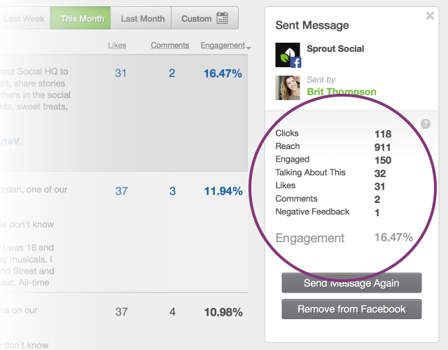 New Facebook Sent Message Stats