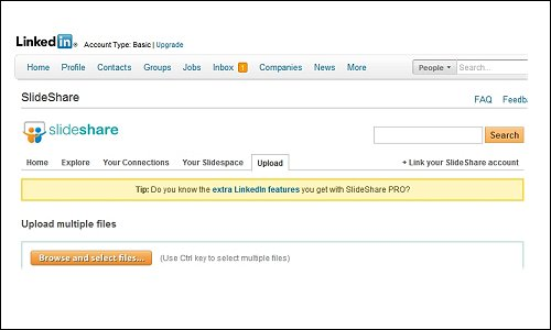 Add The SlideShare Application to Your LinkedIn Profile
