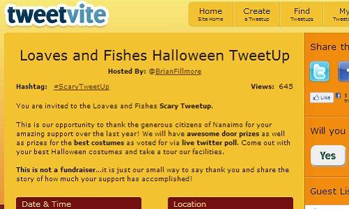 ScaryTweetUp Tweetvite