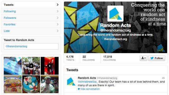 Random Acts on Twitter