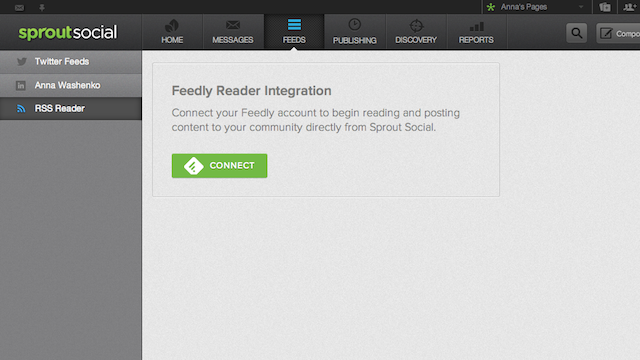 Sprout Feedly integrations