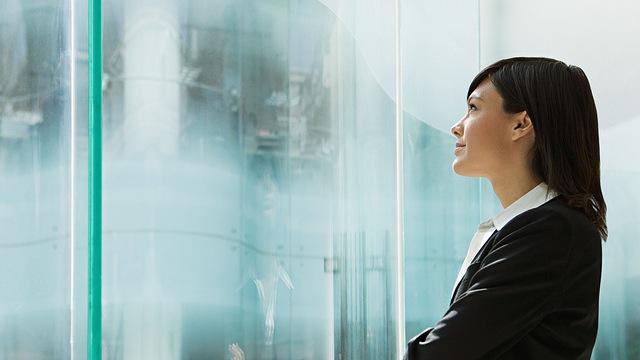 optimistic business woman