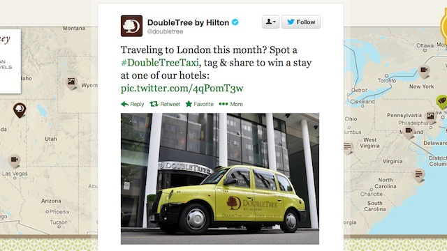 DoubleTree promoted tweet