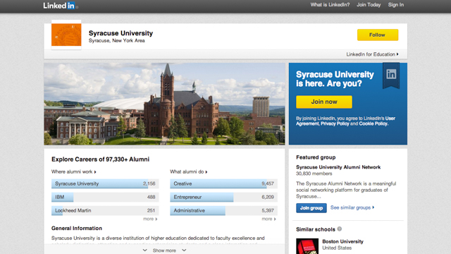 Syracuse University Page