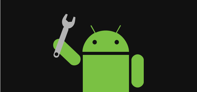android logo with wrench