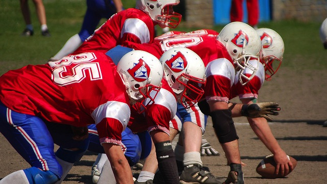 football line scrimmage