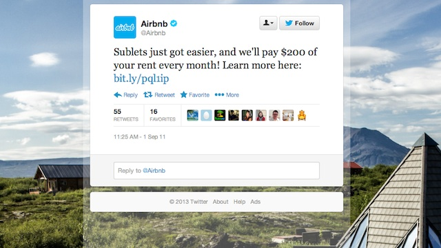Airbnb Twitter screencap