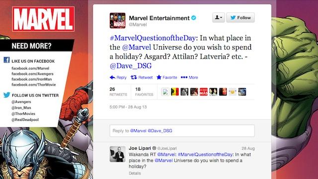 Marvel Twitter screencap