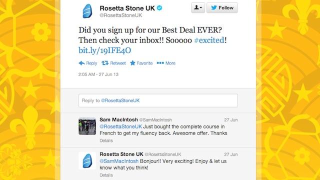 Rosetta Stone Twitter
