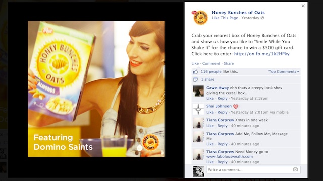 Honey Bunches of Oats Facebook