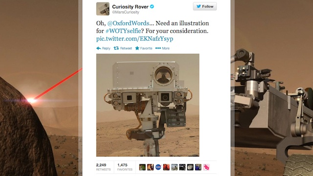 Mars Rover tweet photo