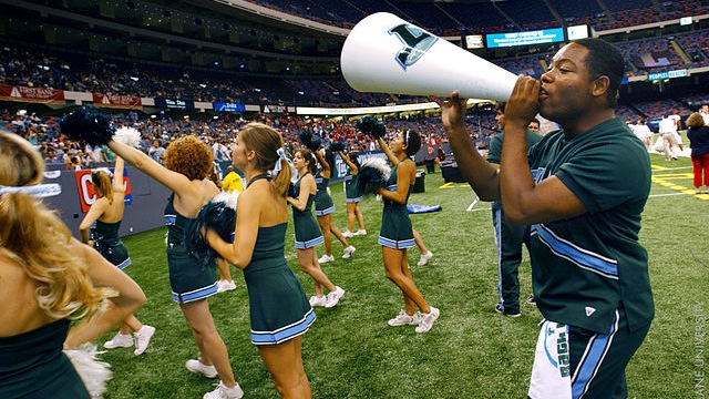 Megaphone cheerleaders