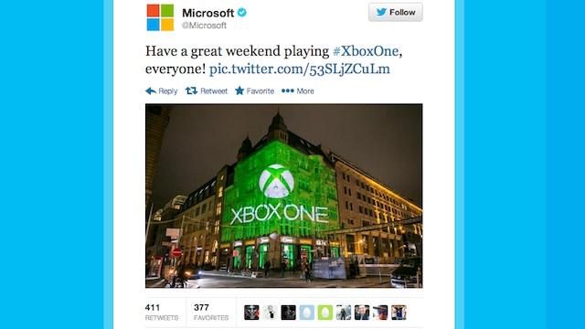 Microsoft tweet image
