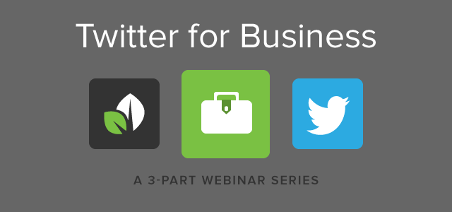 Sprout-Twitter Webinar Series