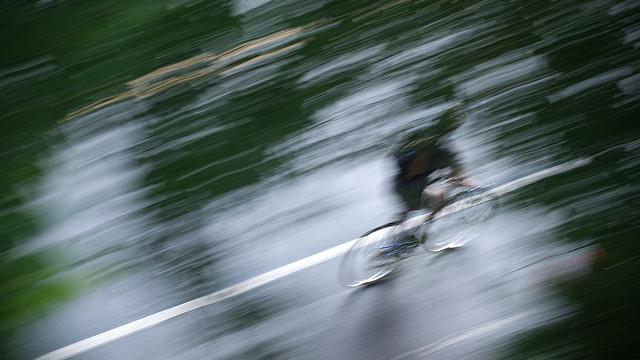 biker blur motion