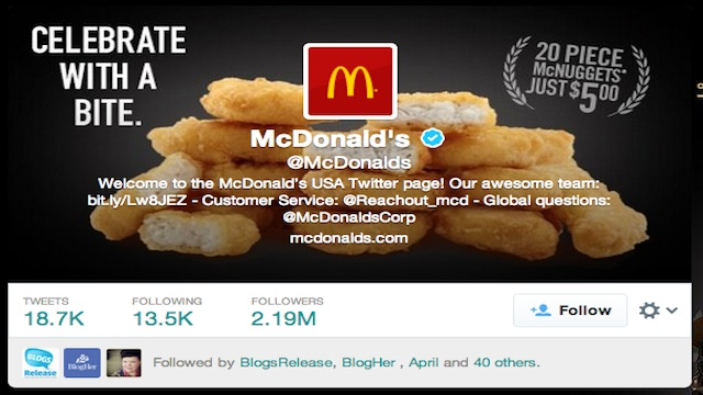 McD Twitter verified