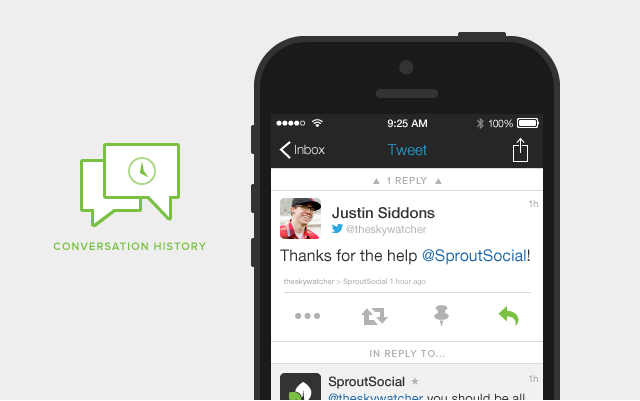 Sprout Social iOS Redesign Conversation History