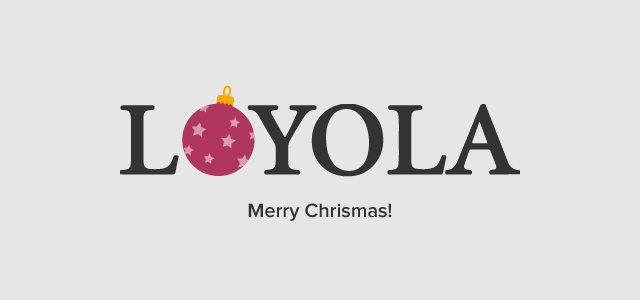 Loyola Universiry Chicago Social Holiday Campaign