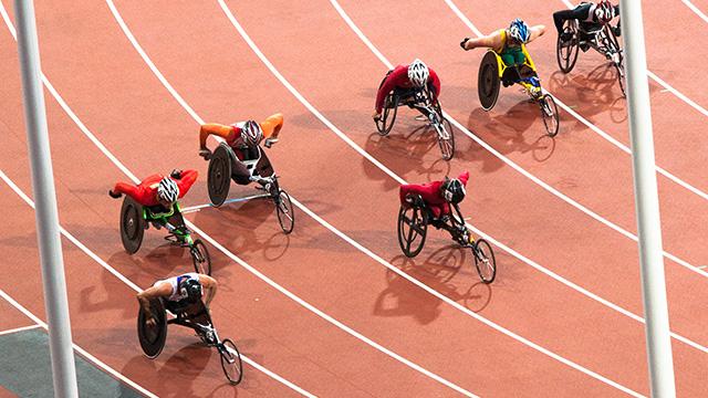 Paralympics race