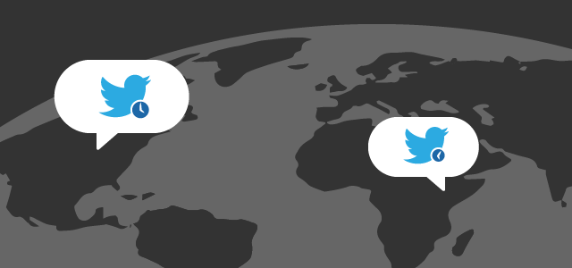 twitter birds above the globe