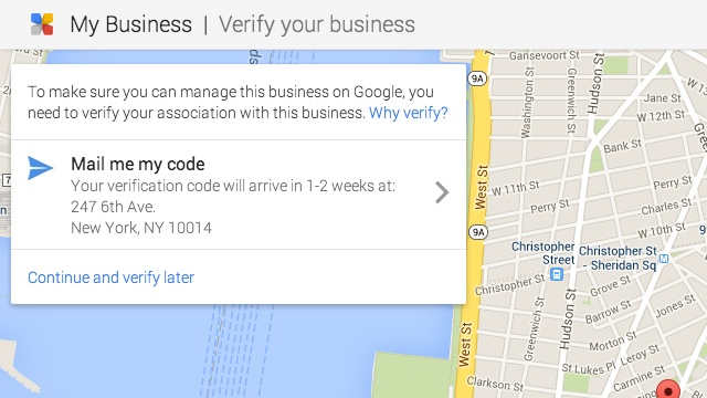 verify local page verify address screenshot