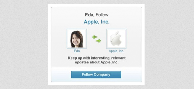 linkedin follow company ad example