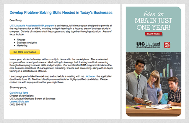 linkedin sponsored inmail ad example