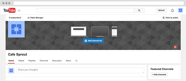youtube channel screenshot